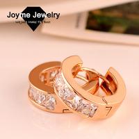 Joyme Brand 2014 New Fashion Top Quality 18K Gold Plated Zircon Earrings female Clip Earrings
