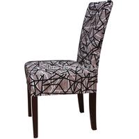Free Shipping Linen blending flock printing stripe chair cover YMHF01