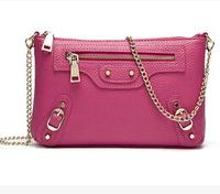 2014 new candy color genuine leather crossbody bags handbags women stylish brand designer messenger bag (2 SIZES)