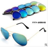 Free drop shipping 20pieces/lot Men Women Loved Unisex Fashion Aviator 10 Colors randomly set Sunglasses J037
