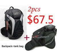 motorcycle backpack shoulders reflective+motorcycle small tank bag waist bag TOTAL 2pcs bag $67.5 Free Shipping moto bag