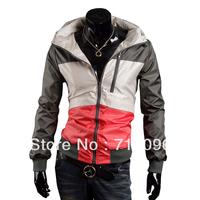 Free Shipping 2014  Windproof waterproof sunscreen UV speed drying slim men windbreaker jacket male