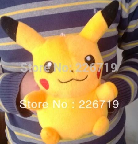 "Free Shipping 1pcs 21cm Pikachu Plush Toys High Quality 8.3"" Very Cute Pokemon Plush Toys For Children's Gift(China (Mainland))"