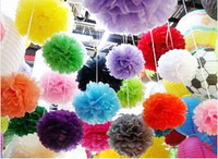 """Hot Sales 30Pcs 6""""/15cm Tissue Pom Poms Paper Flower Ball Wedding Party Modern Vintage Decorations Free shipping"""