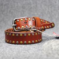 Korean fashion ladies leather belt leisure wild pure rock style