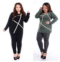 Fat women Big Size T Shirt Original stickers Lace Irregular Hem Tops Ladies Long Sleeve Tees Large Clothing fashion