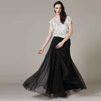 8 m women new fashion autumn summer 2014 European big swing skirts mopping new chiffon high waist maxi long skirt fashion skirt