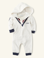 Free shipping ! 2014 new Spring Autumn casual cotton newborn baby boy bodysuits hooded Teddy overall clothing costume