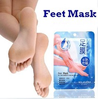 4pc/set Foot Callus Milk Bamboo Vinegar peeling renewal remove dead skin Cuticles Heel smooth exfoliating feet mask care sticker