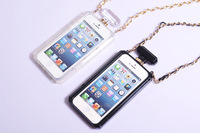 Wholesale New Hot Selling Luxury Brand CC Perfume Bottle Soft TPU Case Cover With Gold Leather Chain For iPhone 4 4s 5 5S