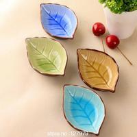 On sale! ceramic plates, leaves, creative, Japanese sushi dishes, snacks, dishes, seasoning sauce dish,wholesale~