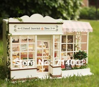 Diy Sweet Berries Time, Wooden house model Diy doll house,Voice-activated light