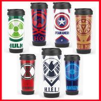 The avengers captain america thor black widow hulk ironman hawkeye outdoor fun & sports water bottle mug drinkware