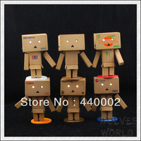 20sets New hot sale  Lovely Danboard Danbo Doll Mini PVC Action Figure Toy with LED light 8cm 6pcs/set