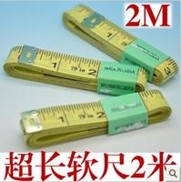 hot-selling! FREESHIPPING Stationery  2 meters long high quality clothmeasure tape measure tape measure ,SOFT 200CM 50pcs/lot