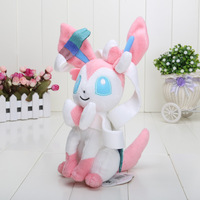 "5pcs hot sale Japan Anime Cartoon Pokemon Sylveon Soft Plush Toy Doll 10"" 25cm"