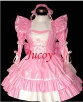 Hot Sale PVC Sissy Maid Dress Uniform Cosplay Costume Lolita Dress