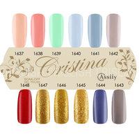 (Choose 3 Color) 2014 Cristina 12 Gel UV New Arrival Colors UV Gel Polish 15ml Nail Gel Free Shipping # 2