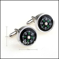 Accept Customized Mixed Order High Quality Novelty Wedding Compass Cufflinks