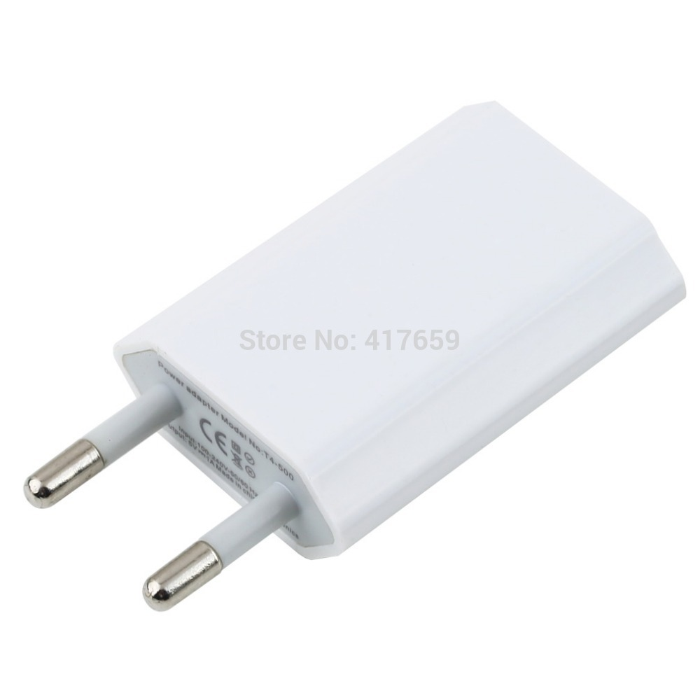 EU Plug USB Power Home Wall Charger Adapter for iPod for iPhone 3GS 4G 4S 5 Hot Selling(China (Mainland))