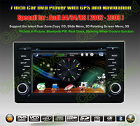 Audicar A4 S4 RS4 2002- 2008 GPS Navigation DVD Player ,Multimedia Video Player system+Free GPS map+Free camera+ Free shipping