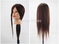 90% Real Human Hair Salon Hairdressing Training Head Mannequin