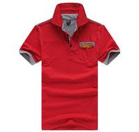 New 2014 summer Mens T Shirt hot-selling turn-down collar casual t-shirt shirt for men free shipping