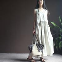 New Female 2014 Women's Linen V-neck Loose Plus Size Sleeveless Vest One-piece Full Ankle-length Long Dress Blue Hemp S,M Solid