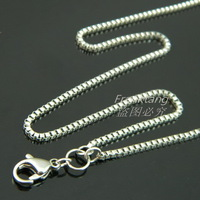 2mm 60cm-80cm 316L Stainless Steel Chain Necklace for Glass Floating Memory Charm Locket Pendant Box Rolo Chain Necklace
