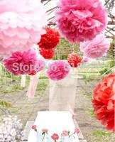 Free Shipping (10Pcs/lot) 20cm Paper Flower Balls Home Decor Craft Woodland Wedding Party Decorations Tissue Pom Poms