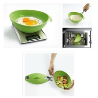 100% Silicone Steam Roaster Microwave Steamer jacinth Steam Case  Healthy Cooking gadgets silicone Cooking Bowl Box