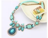 2014 Fashion all-match gorgeous sparkling gem necklace short design luxury elegant necklace