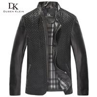 Brand jacket luxury 2014 High quality men Leather clothing  casual jacket slim man coat leather Black coat free shipping 14Y1369