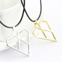 Exo-k necklace quality xoxo kiss hug the belle white