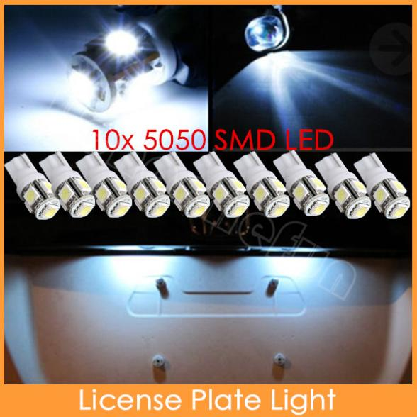 10x White 360 Degree 5050 SMD 168 194 2825 w5w T10 LED Car Led Light Bulbs For Parking led License Plate Lights(China (Mainland))