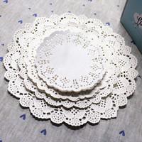 Four sizes mixed!  Round white paper lace doilies Paper mat Home decotation