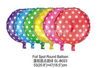 New Free shipping 50pcs/lot Foil balloon,party decoration balloon polka dots balloons