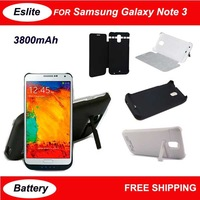 3800 mAh Portable External Battery Flap Clip Backup Charger Case Power Bank For Samsung Galaxy Note 3 N9006 Rechargeable Battery
