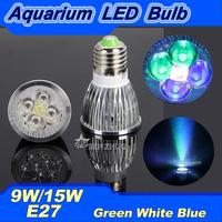 2PCS E27 9W/15W Epistar LED Aquarium Light Decoration lamp Fish Tank Lighting Underwater Plant Grow Lamp White/Blue/Green