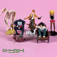 Free Shipping 5pcs Death Note Anime PVC Action Figure Set Collection Model Toy (5pcs per set)