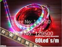 High-Quality 4m 240 5V 60 LED RGB Strip black PCB WS2812B 5050 SMD WS2811 chip Waterproof IP67 led RGB strip light
