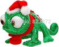 Free Shipping Original Princess Rapunzel Plush Toys Pet Pascal Christmas Hat Cute Lizard Chameleon  Kids Toys for Children Gift