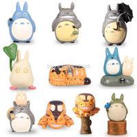 HOT Anime My Neighbor Totoro Set of 10pcs Mini Action Figures PVC Models Dolls Toys Chu Totoro, Chibi  Catbus Doll