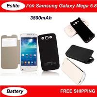 3500 mAh Portable External Battery Flap Clip Backup Charger Case Power Bank For Samsung Galaxy Mega 5.8 I9152 I9150 I9158