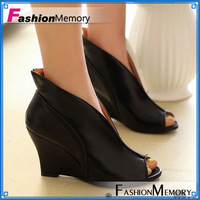 Big Size 34-43 Sexy High heels Peep Toe Pumps for Women New Arrival 2014 Fashion Wedges Casual Wedding Summer Shoes ADM333