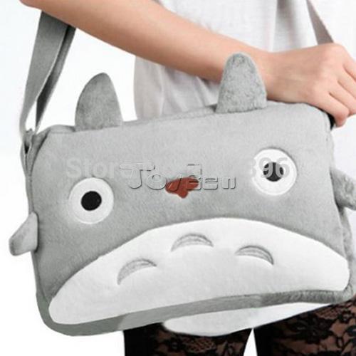 Japan Anime My Neighbor TOTORO Cute Plush Shoulder Messenger Bag Cawaii Soft Bag Toy(China (Mainland))