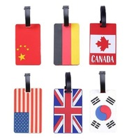 Free shipping flag luggage tags travel passport holder  luggage strap cute 3d luggage tag wholesale 10pcs/lot  cheap item