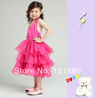 Free shipping   New arrive 2014 high quality girl costume princess dress  girl dress for prom 2-10  age 0076