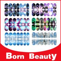 2014 New Luminous Nail Art Stickers,12sheets/lot Adhesive Nail Foils,Full Cover Nail Tip Wraps Decals,Nail Decorations Tools