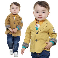 Kids 2014 spring tide boys three-piece suit infant out clothes suit 0-1-2-3 years old